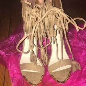 Miss Lola fringe heels